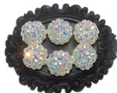 14mm Disco Beads Faceted Rhinestones - 10 pcs - Wedding White