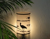 Night Light (Crane) - nightlight - bedroom lighting - bathroom - kitchen - child's room - home decor -lamp -winter lighting - wetlands-gift