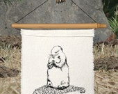 ONE LITTLE PRAYER silk flag - Namaste - Prairie Dog - Prayer - Caring - Sympathy Gift - Memorial - Compassion - Heart