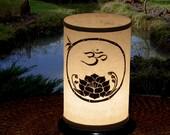 Candle Holder, Shoji Candle Lantern (Om/Lotus) Wedding  Home Decor Gifts Entertaining - Zen Lighting OM, Lotus Candles & lighting