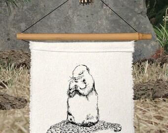 ONE LITTLE PRAYER silk flag - Namaste - Prairie Dog - Prayer - Caring - Sympathy Gift - Memorial - Compassion - Heart