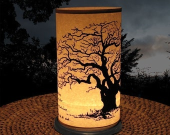 Candle Holder (Shoji Candle Lantern Winter Tree)-home & living-Candles lighting-Weddings-Holiday lighting-al fresco dining-Oak Tree