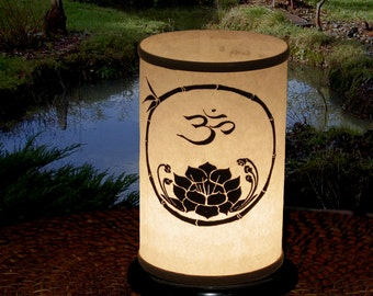 Candle Holder, Shoji Candle Lantern (Om/Lotus) Wedding-Home Decor-Gifts-Entertaining Zen Lighting-OM-Lotus-Candles & lighting-shrine-altar