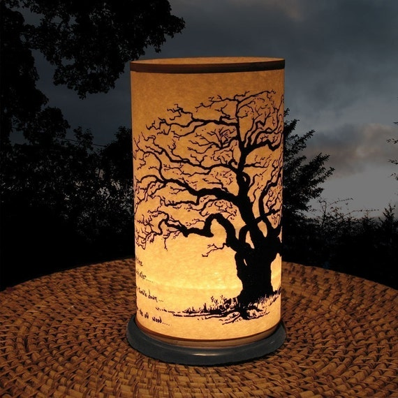 Candle Holder (Shoji Candle Lantern Winter Tree)-home & living-Candles lighting decorations-Weddings-Garden Decor-al fresco dining-Oak Tree