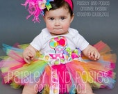 Bubbly Bright Birthday Set for Baby Toddler Girl - Sizes 6 Months through 5T - Only 10 More Sets Available-
