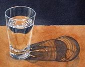 Glass of water - Original Watercolour Painting