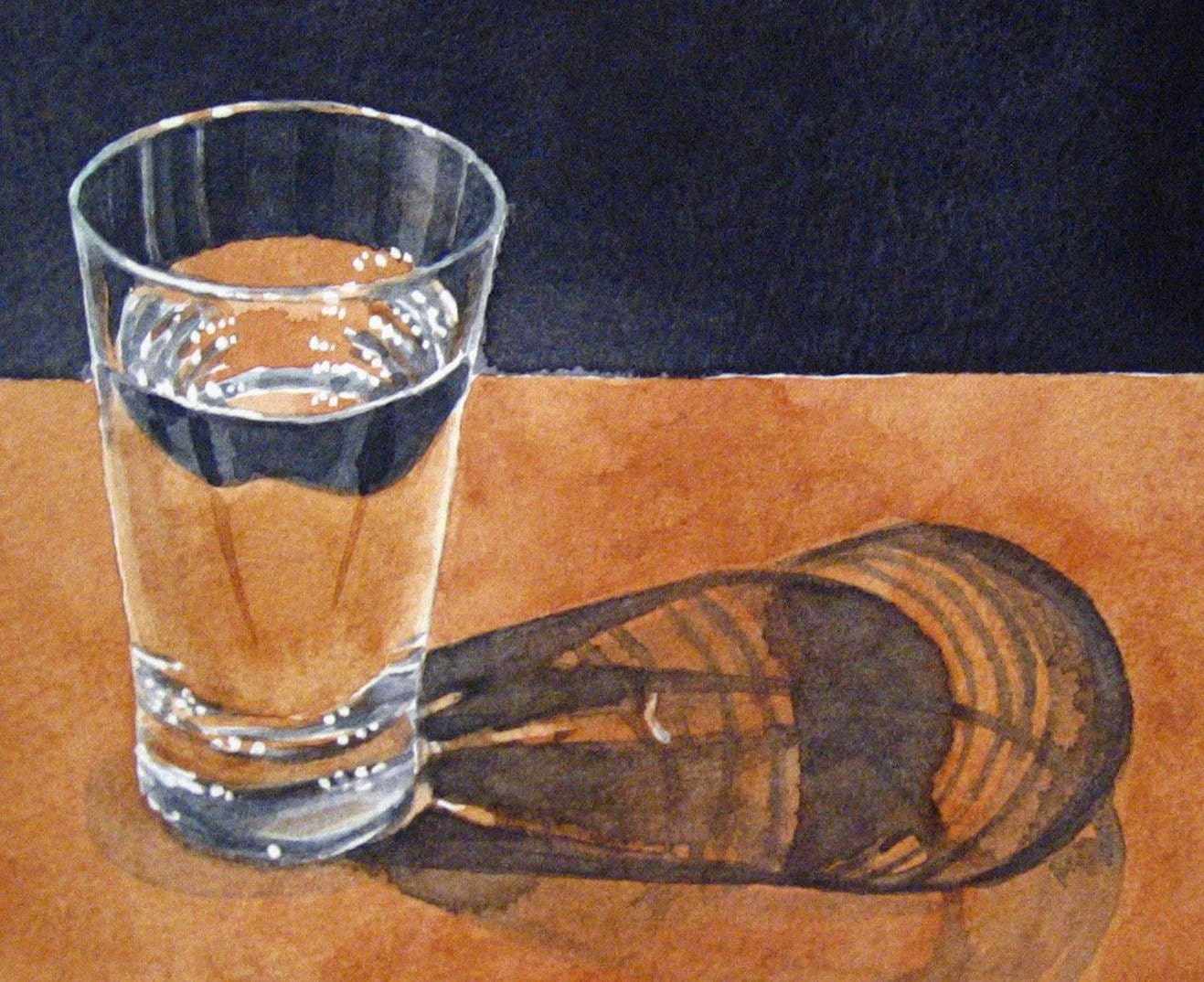 Glass of water Original Watercolour Painting