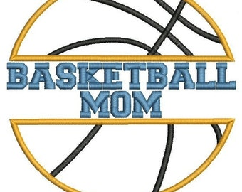 Basketball Mom Applique Machine Embroidery Design
