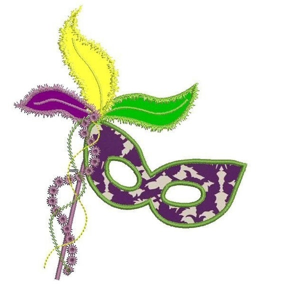 feather mardi gras mask applique embroidery by keepsmeinstitches. Black Bedroom Furniture Sets. Home Design Ideas