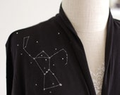 Black Cotton Wrap with constellation/The hunter-size Large