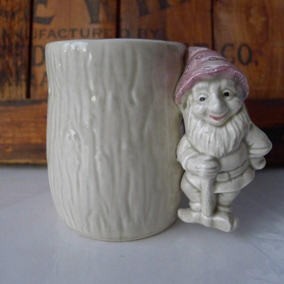 Vintage Enesco Mug Garden Gnome Dated 1979