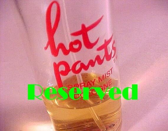 RARE Sexy Hot Pants Perfume Mist Cologne Pfizer