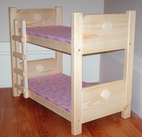 wooden toy bunk bed for 18 inch doll american girl. Black Bedroom Furniture Sets. Home Design Ideas
