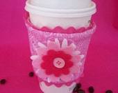 Pink Paisley Coffee Bling (Coffee Cozy)