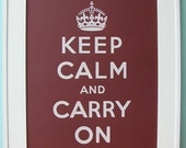RESERVED for waysideviolet - Keep Calm - Wine - 16x20 vintage poster - Keep Calm and Carry On print