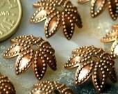 40 Antique Copper\/P Brass Filigree Bead Caps bc13d,