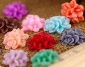 Colorful Resin Flower Cabochon Rose Flower Clusters - 15 Colors Choices - 16mm Flat Back Flowers Cabochon - P225(20pcs)