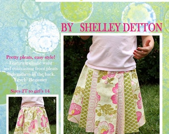 The Hazel Skirt - a PDF Pattern for girl's pleated skirt, sizes 2T to girls 14