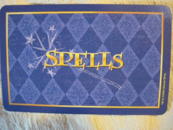 LAST CHANCE Harry Potter Spell Cards