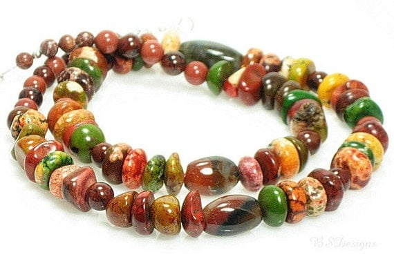 Multicolor Jasper Gemstone Necklace
