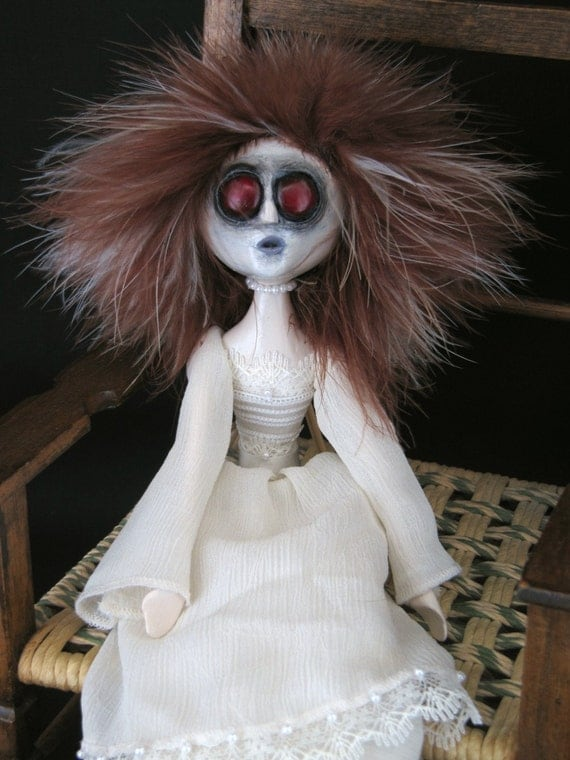 SALE - Creepy Gothic Art Doll - Lydia's Ghost