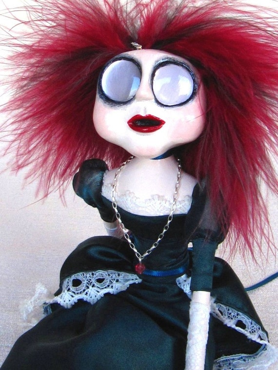 A Gothic Victorian Christmas Art Doll - Isabella - The Ghost of Christmas Future SALE