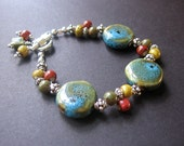 Colorful Porcelain Bracelet . Beaded Bracelet - Fiesta Bracelet