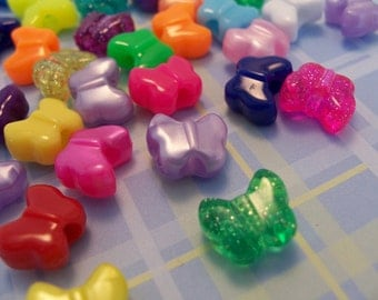 Butterfly shaped pony beads