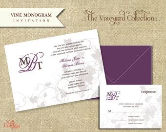 The Vineyard Collection-Vine Monogram Invitation Set