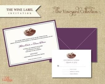 The Vineyard Collection-Wine Label Invitation Set