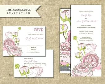The Ranunculus Invitation Sample Set