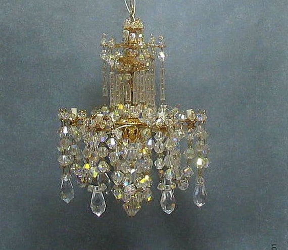 Miniature Crystal Dollhouse Chandelier By Marmades On Etsy
