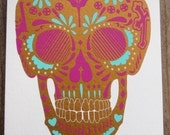 Sweet Calavera (Birthday, Love, Halloween), Vinyl Greeting Card