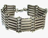 Antique Victorian Silver Metal Gate Bracelet