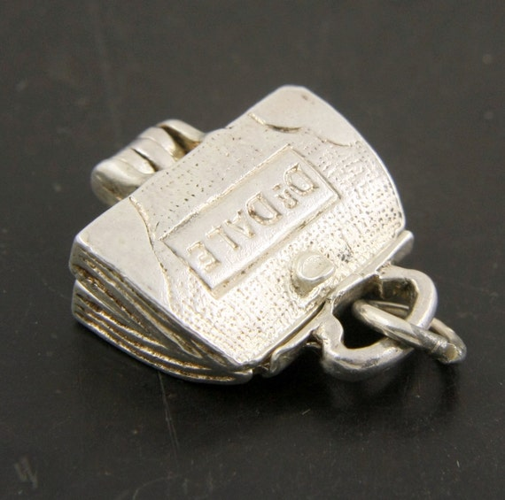 Vintage Dr Dale Doctor Bag Charm Pendant Opens to Reveal a Baby, Sterling Silver