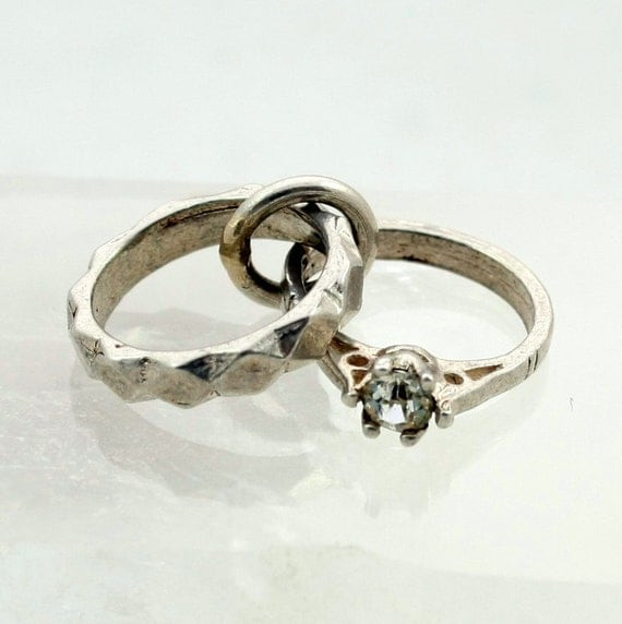 Silver Engagement Wedding Ring Charm