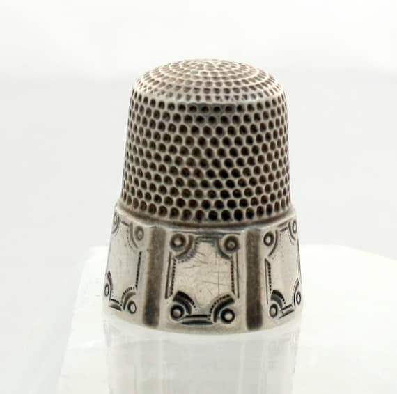 Antique Simons Sterling Silver Thimble Size 10 By Mybooms