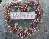 Heart Shaped Wreath - Valentines Day Gift - berry wreath