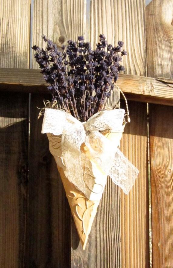 French Lavender - Wall Pocket - door wreath - Mothers Day - door wreath  - Spring Summer