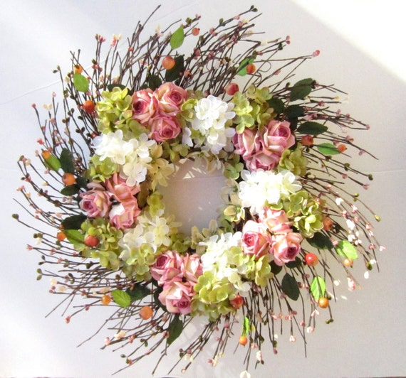 Front Door Wreath - Summer Floral Decoration - Say it With Flowers