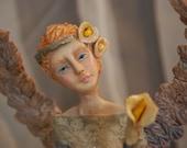 Paper Clay  Calla Lily Angel by Bonnie Jones