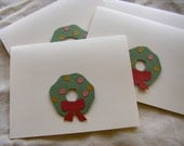Christmas Wreath Note Cards