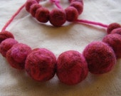 Felted Bead Necklace and Bracelet