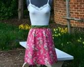 A Line Skirt - Pink Skirt - Floral Skirt
