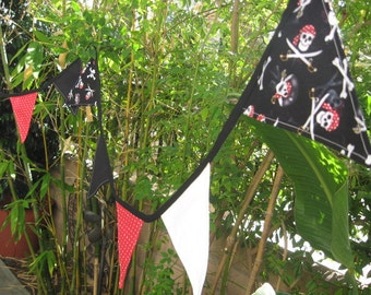 Aye, Matey- Pirate Pennant Party Banner