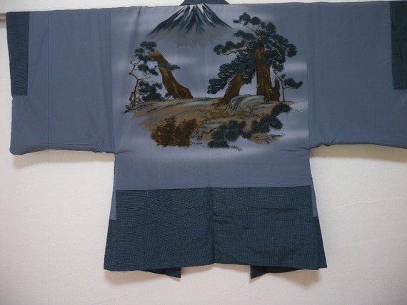 Vintage kimono and haori set 1496, for men