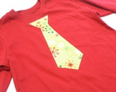 Holiday Snowflakes Tie Tee... Long Sleeve 12m, 18m, 24m, 3T, 4T, 5T