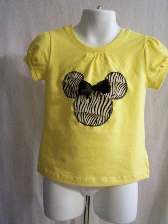 DISNEY Minnie Mouse Applique Top,Shirt  Tshirt, Tunic,2T 3T 4 5 6