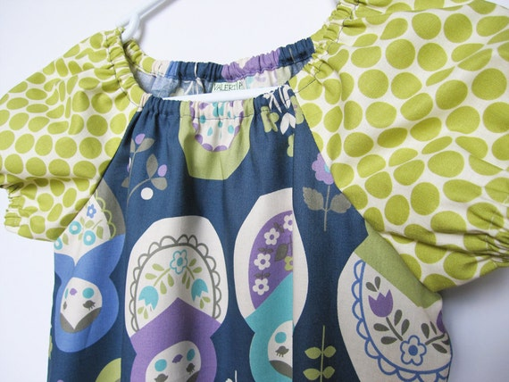 Matryoshka Peasant Dress - Tanya - Available sizes: 12 months - 4T- LAST ONE