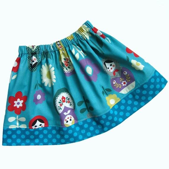 Matryoshka Skirt -ANNA- Available sizes: 2T - 7